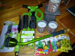 Lots of gardening tools and even some seeds!
