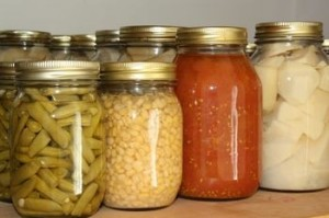 Canning is one way to save food storage.
